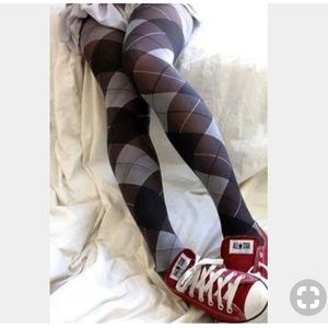 Hue Argyle Sweater Tights NWOT